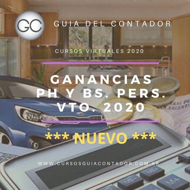 3.GANANCIAS PERS. FISICAS Y BS. PERSONALES. VTO 2020  ***NUEVO***