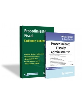 PROMO 5: Procedimiento Fiscal (Explicados y comentados) + Separata de Legislación