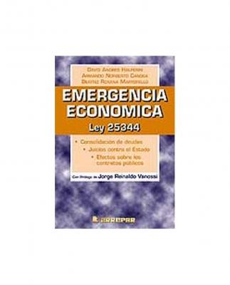 EMERGENCIA ECONÓMICA - LEY 25.344