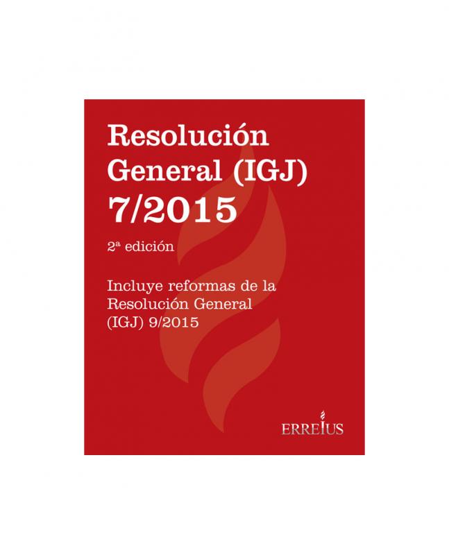 RESOLUCIÓN GENERAL (IGJ) 7/2015